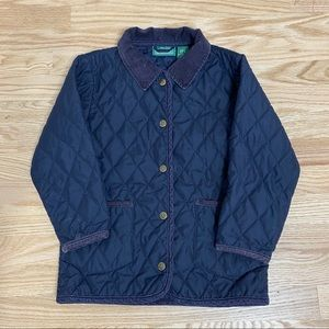 L.L. Bean Insulated Quilted Button Down Jacket M